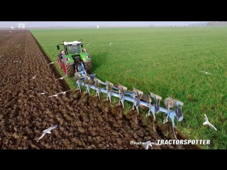 Fendt 1050 vario + 8 furrow lemken diamant 11 on-land plough kmwp ploegen pflügen