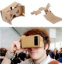 Абсолютно новые DIY Google картонные виртуальной реальности VR мобильный телефон 3D просмотр очки для 50 экран Google VR 3D очки