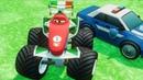 Мультики про Машинки Тачки 2 Франческо Бернулли Монстр Трак Полицейские Машины Мультики для Детей
