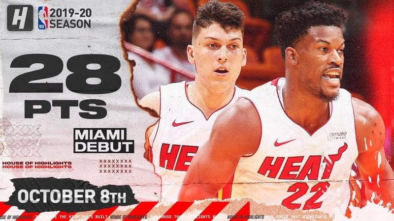 Jimmy Butler Tyler Herro Miami Heat Debut Highlights vs Spurs October 8 2019