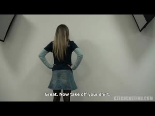 Czech blonde veronika took off her clothes and got down on her knees to suck dick perfect girls
