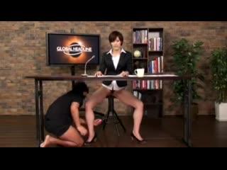 Тяжёлые будни новостной ведущей#japanese #porn #sex #bukkake#японское #порно #секс #буккаке