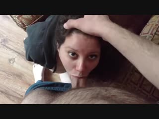 Sucking a huge cock, fucked, and jizzed on (сосать,студентка,school girl,new,anal,pov,cfnm,bdsm,cute,webcam,skype,cum,18yo,home)