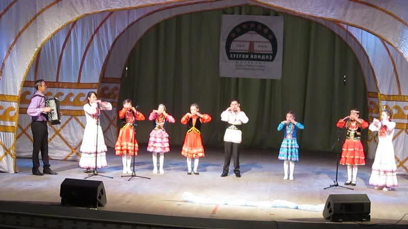 Яйык кумызсылар ансамбле 23 11 19г Кунакбай урта мактабе Конкурс фестиваль Етеган йондоз