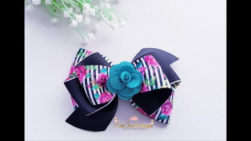 Laço Galla Invertido Fita n 9 Grosgrain ribbon bow