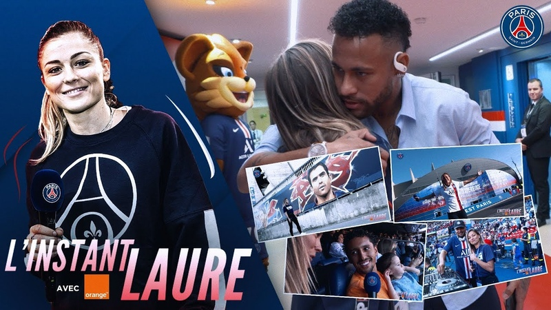 L'INSTANT LAURE AU COEUR DU LANCEMENT MAILLOT THIRD PARIS SAINT GERMAIN vs STRASBOURG