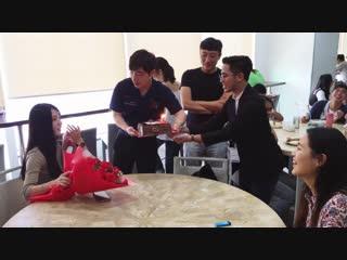 Qqenglish korean student happy birthday