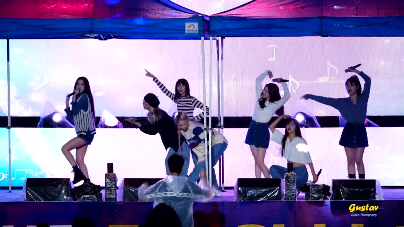· Fancam · 191002 · OH MY GIRL - BungeeThe Fifth SeasonI Found LoveSecret Garden · Hongcheon Soldiers Day Festival ·