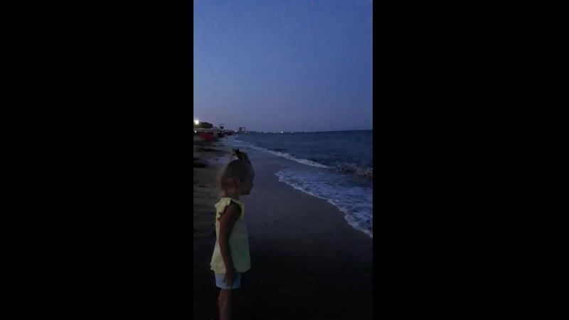 Ночной шторм 4. август 2019 Крым
