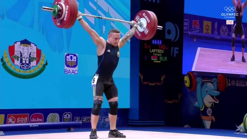 Геннадий Лаптев (BLR) - Men 67kg, IWF World Championships, Pattaya 2019