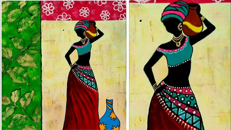 Texture African Woman Painting || Statement wall decor|| African Lady Painting || PriyA Art Studio