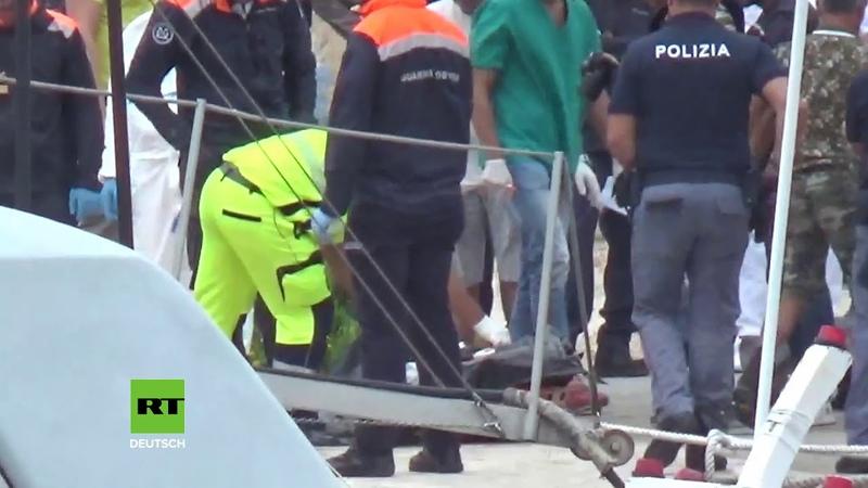 Schlepperboot kentert vor Lampedusa: Mindestens 13 Frauen ertrunken