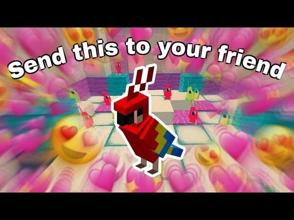 Wholesome Dancing Parrots meme Minecraft