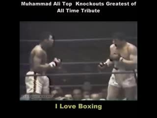 Подборка топ нокаутов величайшего Мохаммеда Али