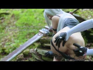 Nier Automata - A2 vs 2B (Lana Rain) game uncensored hentai porno sex blowjob dildo toy cosplay
