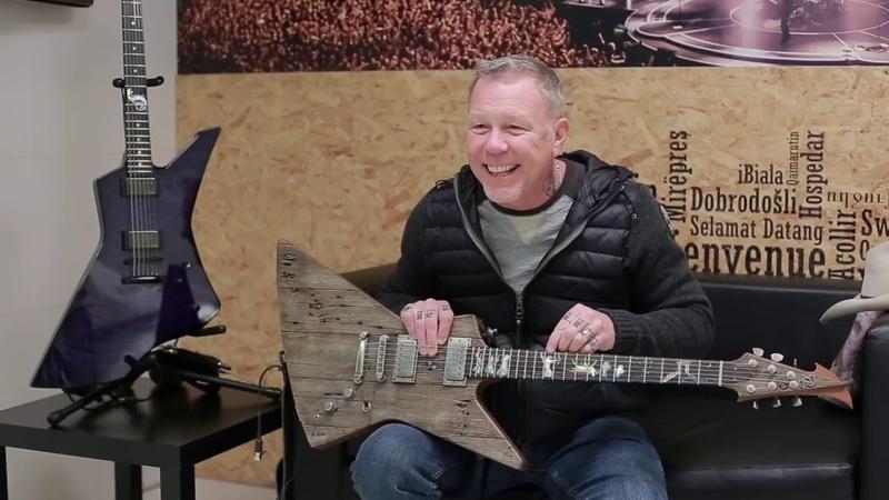 Джеймс Хетфилд о гитаре Карл На русском