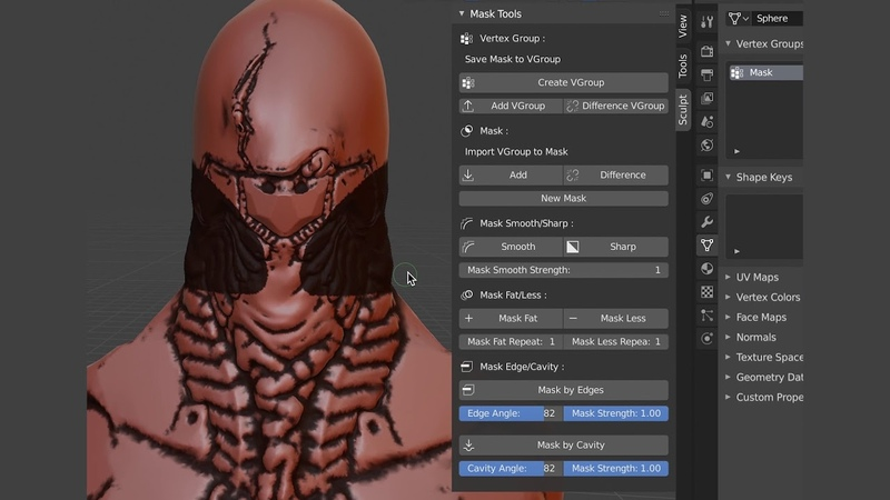 Blender Addon: Mask Tools [Blender2.8 Update]
