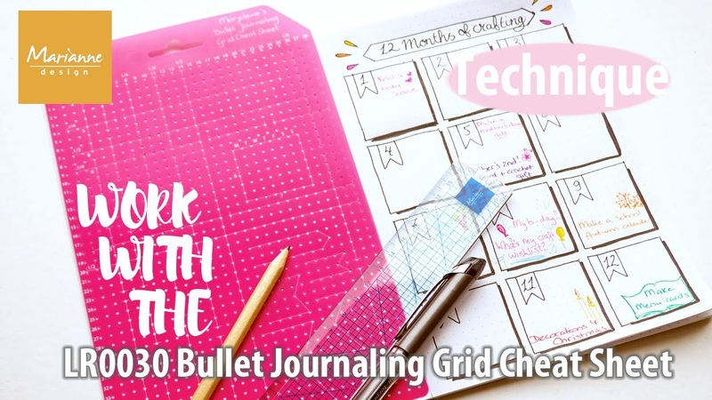 Bullet Journaling Let's make a page 12 months of crafting Marjoleine's Grid Cheat Sheet