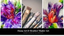 (103) Flower dip collaboration with Heather Mader Art