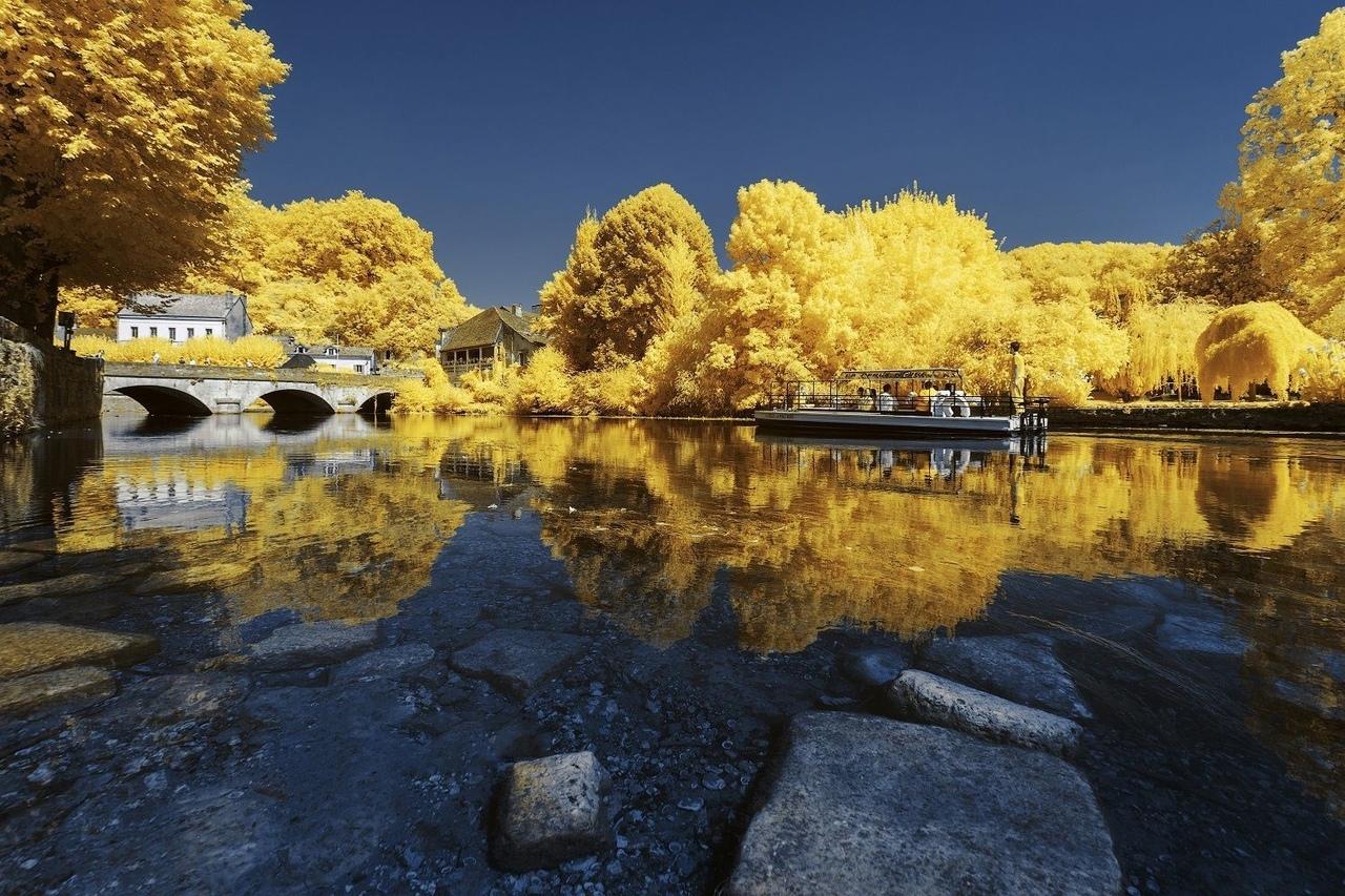 Французские пейзажи в ярко-желтых тонах в фото Пьера-Луи