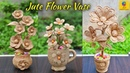 Best 3 Flower and Flower vase Decoration Idea with Jute Rope Home Decor Jute Flower Showpiece