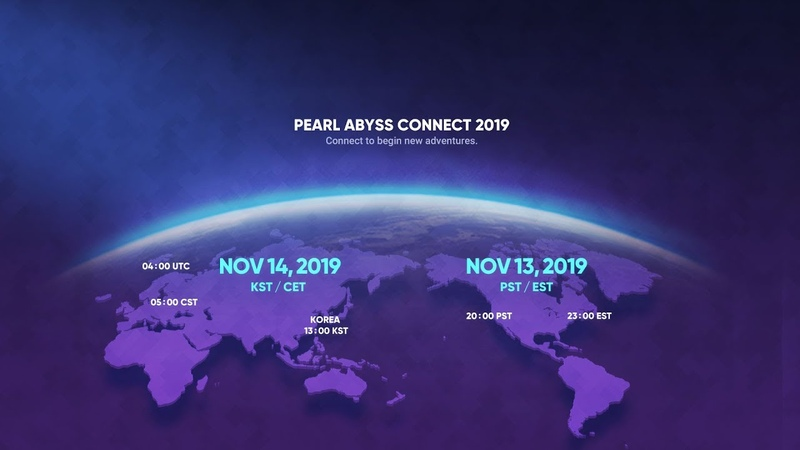 Pearl Abyss Connect at G-STAR 2019 New Project Reveal Trailers 신작 트레일러 발표회