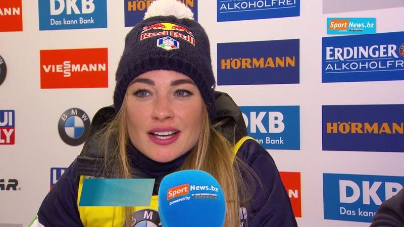 WM Interview Dorothea Wierer nach ihrem 2 Gold in Antholz