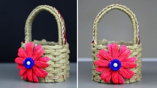 DIY Wicker Basket with Jute Rope and Plastic Bottle | Make a Unique Basket from Jute Rope
