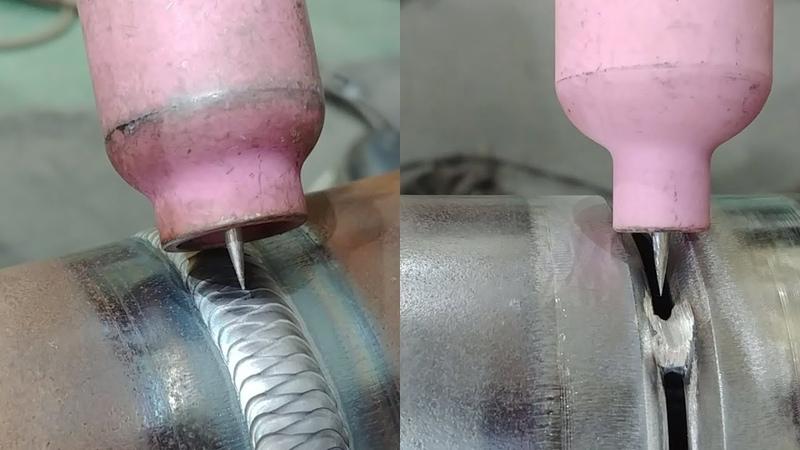 Tig welding Walking The Cup pipe welding (2 1/2inch sch80 carbon steel pipe)
