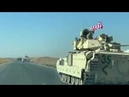 US CONVOY OF BRADLEY BATTLE TANKS MARCHES TOWARDS TAL-TAMR N E SYRIA