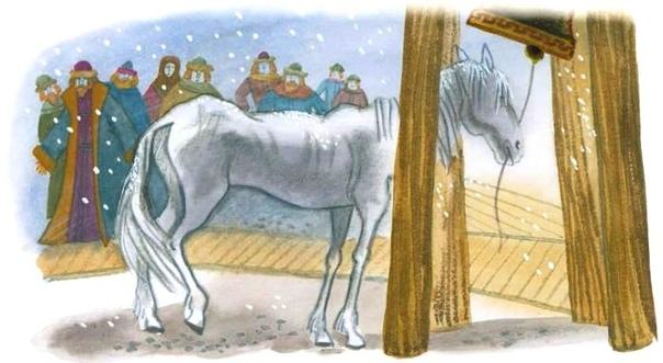 слепая лошадь ушинского картинки вас