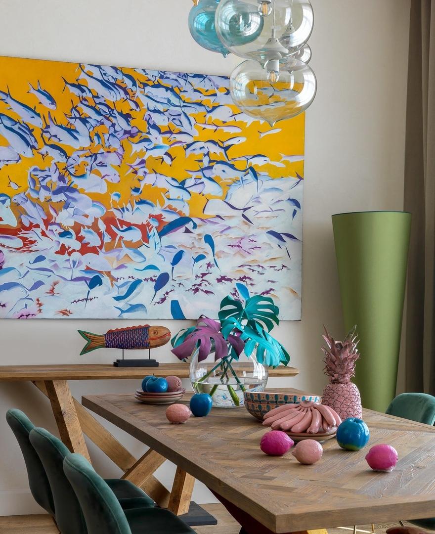 Дом, где сплелись полотна русских художников, ткани из знойной Африки и колоритные узбекские икаты -  Art Group    02