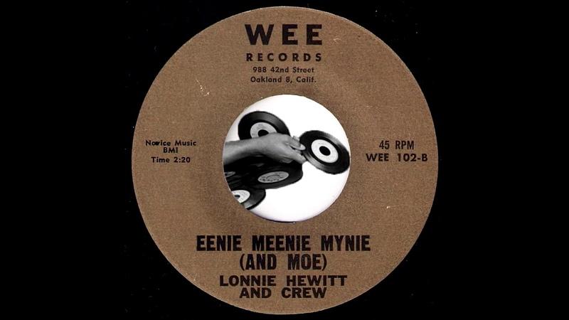 Lonnie Hewitt And Crew Eenie Meenie Mynie And Moe Wee 1963 Mod Latin R b Exotica 45