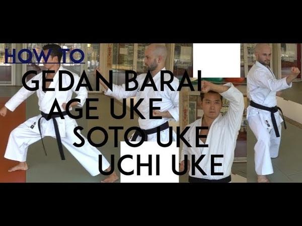 How to GEDAN BARAI AGE UKE SOTO UKE UCHI UKE all karate basic blocks TEAM KI