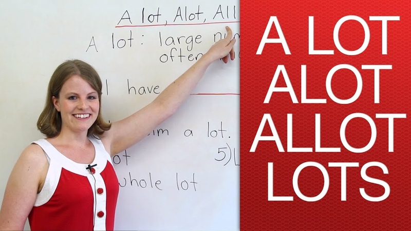 A lot alot lots allot