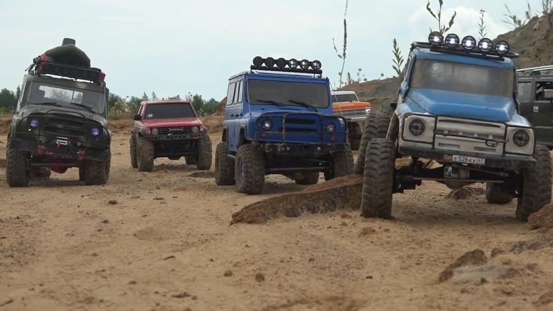7 мощных внедорожников в опасном каньоне УАЗ Bluaz ЗИЛ 650 сил Pajero Hummer