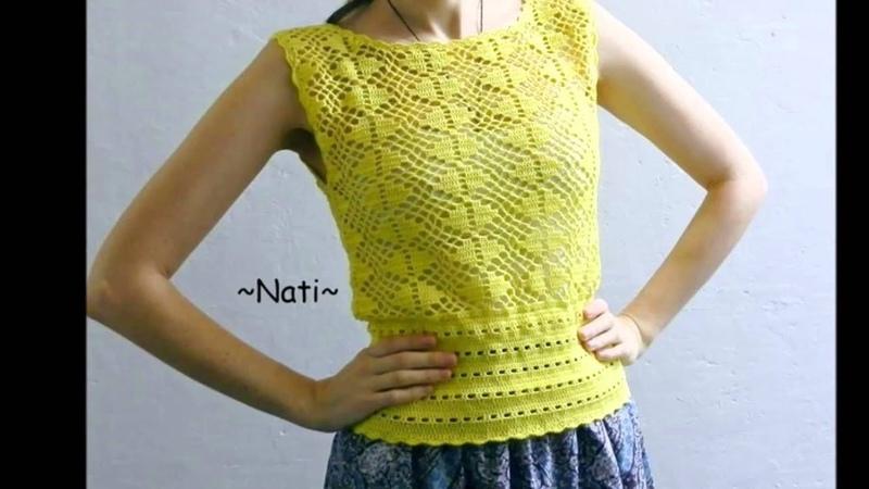 Blusas coquetas tejidas a crochet