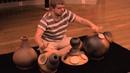 Quentin Camus avec 4 udu drums ATS Percussion