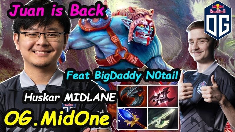 Juan is Back   OG Midone [Huskar] MIDLANE Insane Right Click Feat Notail Dota 2 pro Gameplay
