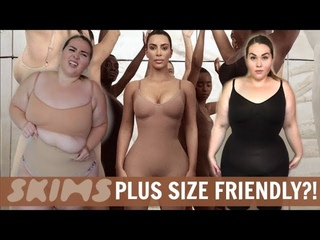 SKIMS Plus Size Try-On Review! Kim Kardashian's Shapewear  |Sarah Rae Vargas|