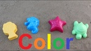Learn Colors Sand Molds funny colored starfish