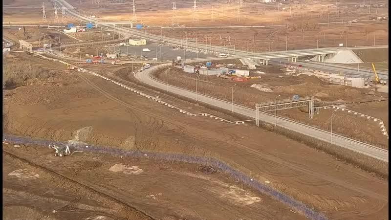 Крымский мост(06.12.2019)Вокзал Керчь Южная растёт.Строительство подходит к заве