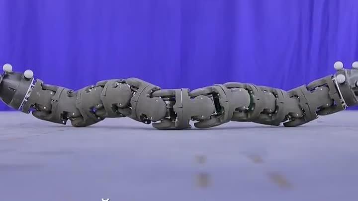 Робот спасатель🤖Российскими учеными разработан робот имеющий форму змеи и приспособленный для поиска людей под завалами