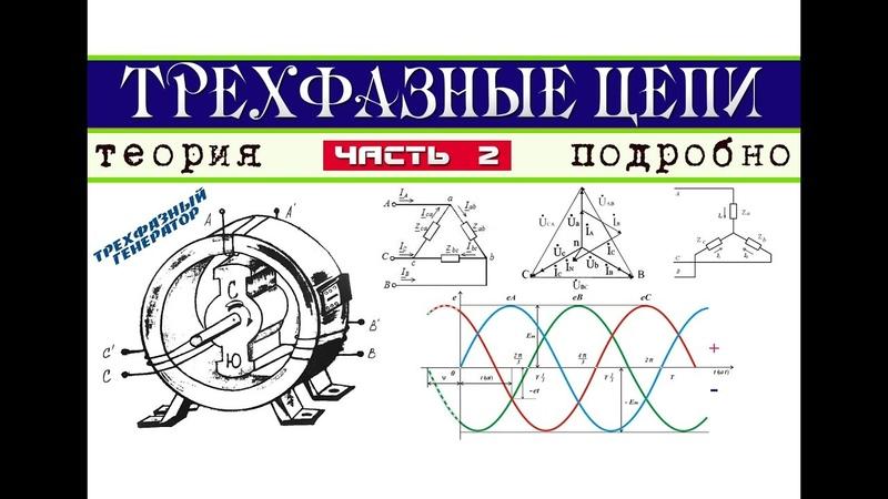 Трехфазные электрические цепи │Теория ч. 2
