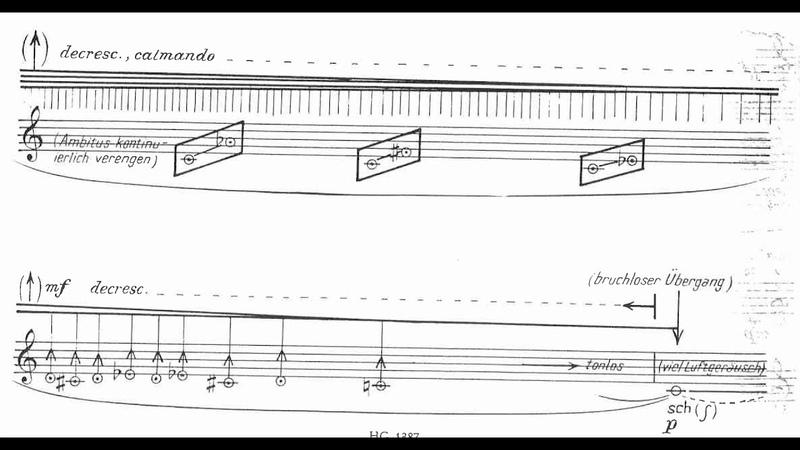 Heinz Holliger - Lied for Amplified Flute (1974) [Score-Video]