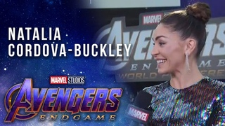 Agents of . Natalia Cordova-Buckley LIVE from the Avengers: Endgame Premiere