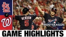 Stephen Strasburg Howie Kendrick fuel Nats' NLCS Game 3 win Cardinals Nationals MLB Highlights
