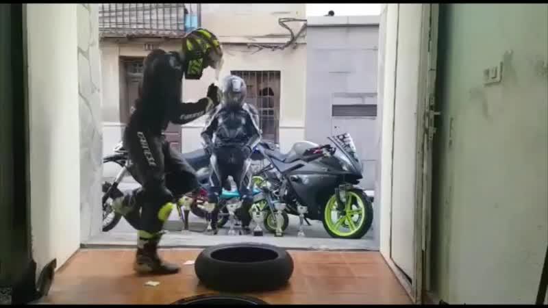 Утренняя гимнастика настоящих мотоциклистов funny fitness cover for the real bikers