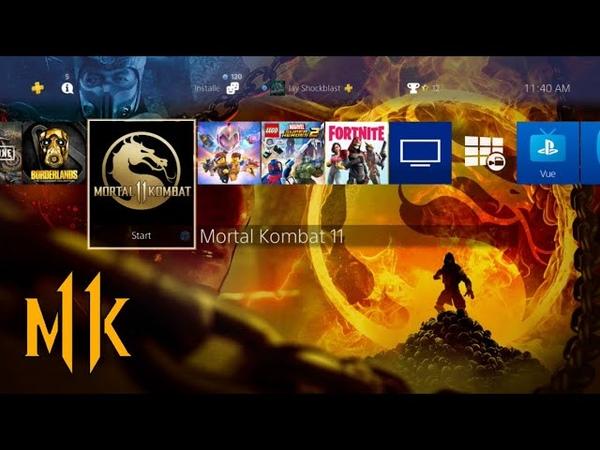 Mortal Kombat 11 Community Art Theme by BossLogic On Playstation Store FREE!
