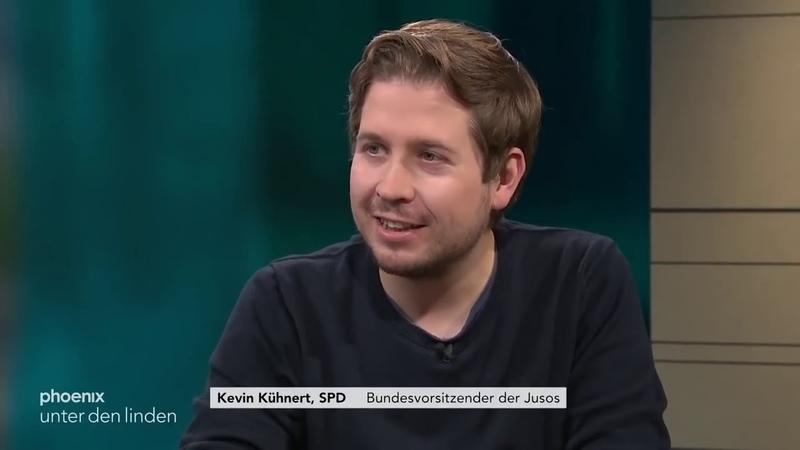 * unter den linden* vom 10 12 2018 Kevin Kühnert Jusos und Philipp Amthor CDU